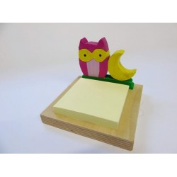 Porta post-it - gufo
