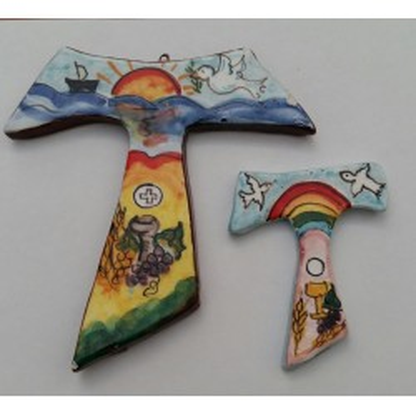 Tau Croce in ceramica - formato piccolo