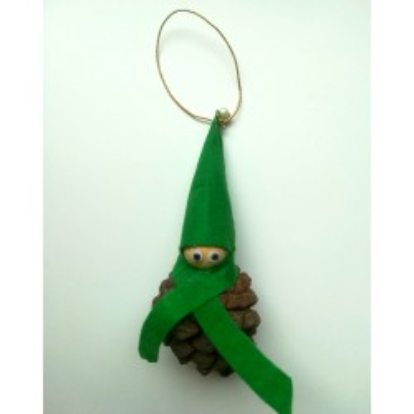 Gnomo di Natale verde