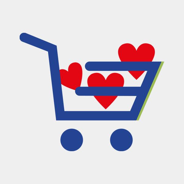 Portafoto da tavolo in plexiglass - Fiori azzurri